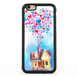 Balloon house Pattern Design Metal CoatedTPU Frame Back Case for iPhone 7 7 Plus 6s 6 Plus SE 5s 5c 5 4s 4