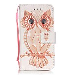 Shell Owl 3D Painting PU Phone Case for apple iTouch 5 6