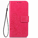 KARZEA Clover PatternTPU and PU Leather Case with Stand for Moto Z/X4/Moto Z Force/G4 Play/G4 Plus
