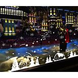 Navidad Pegatinas de pared Calcomanías de Aviones para Pared Calcomanías Decorativas de Pared,Plastic Material Puede Cambiar de Ubicación