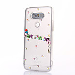 For LG G5 SE G4 K10 Rhinestone Case Back Cover Case Flower Hard PC For LG K7 LG K4 LG G3 LG V10 V20