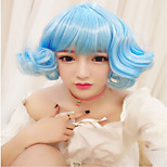 Lolita Wigs Sweet Lolita Lolita Curly Sky blue Lolita Wig 30 CM Cosplay Wigs Solid Wig For Women