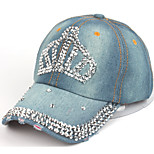 The crown set auger water cowboy hat Ladies fashion duck tongue baseball cap Breathable / Comfortable