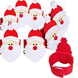 4Pcs Non-woven Napkin Set Of Santa Claus Napkin Ring