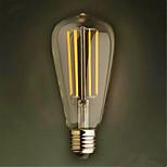 4W E26/E27 LED-hehkulamput ST64 4 SMD 2835 320 lm Lämmin valkoinen Koristeltu V 1 kpl