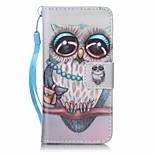 Gray Owl Painting PU Phone Case for apple iTouch 5 6