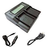 ismartdigi EL14 LCD Dual зарядное устройство с кабелем для зарядки в автомобиле для Nikon D3200 d3300 d5200 D5100 Аккумуляторы D5300 d5500