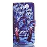 Full Body Card Holder / Wallet / Flip / Pattern Animal PU Leather Hard Case Cover For Lenovo A6000