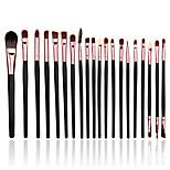 20 Makeup Brushes Set Nylon Portable Wood Face / Eye / Lip Others