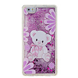 For Huawei P9 P8 Lite Cover Case Bear Pattern Glitter Powder Small Fresh Quicksand TPU Material Phone Case