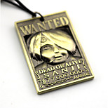 Inspired by One Piece Sanji Anime Cosplay Accessories Necklace Golden / Silver Alloy