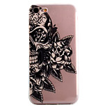 For iPhone 7 7 Plus 6S 6 Plus SE 5S Case Cover Skull Flower Pattern High Permeability Painting TPU Material Phone Case