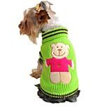 Gatti Cani Maglioni Rosso Giallo Verde Abbigliamento per cani Inverno Primavera/Autunno Cartoni animati Divertente Casual