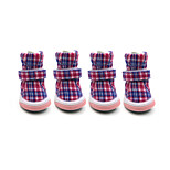 Dog Shoes & Boots Fashion / Keep Warm Winter Plaid/Check Cotton