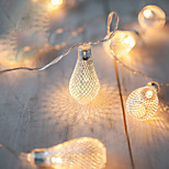 2M AA Battery Operation led string LED Metal Drip String Lights Christmas lights navidad luci nataleguirlande exterieur