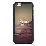 Seaside day  Pattern Design Metal CoatedTPU Frame Back Case for iPhone 7 7 Plus 6s 6 Plus SE 5s 5c 5 4s 4