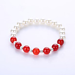 European And American Fashion Natural Stone Bracelet Imitation Pearl Bracelet 8 mm Beads Bracelet