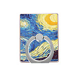 Oil Painting  Pattern Plastic  Ring Holder / 360 Rotating for Mobile Phone