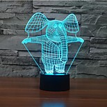 Elephant Touch Dimming 3D LED Night Light 7Colorful Decoration Atmosphere Lamp Novelty Lighting Christmas Light