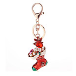 Key Chain High-heeled Shoes Key Chain Red / Silver Metal