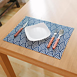 Square Patterned / Floral / Nautical Placemat , Cotton Blend Material Hotel Dining Table / Table Decoration