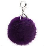 Key Chain Sphere Key Chain Purple Metal / Plush