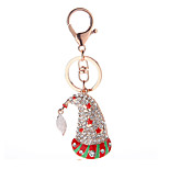 Key Chain Red Green Silver Metal