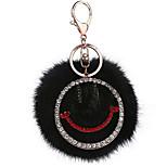 Key Chain Sphere Key Chain Black Metal / Plush