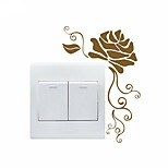 AYA™ DIY Wall Stickers Wall Decals, Flower Pattern Light Switch Stickers
