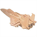 Jigsaw Puzzles Wooden Puzzles Building Blocks DIY Toys F - 15 Fighter 1 Wood Ivory Model & Building Toy