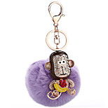 Key Chain Sphere Purple Metal Plush