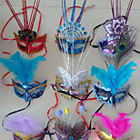 Christmas Holiday Supplies Props Halloween Fancy Dress Party LED The Rain Mask Random Color