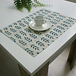 Rectangular Embroidered Placemat , Cotton Blend Material Hotel Dining Table / Table Decoration