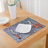 Square Print / Patterned / Nautical Placemat , Cotton Blend Material Hotel Dining Table / Table Decoration