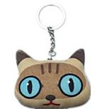 Key Chain Cat Key Chain Brown Cotton