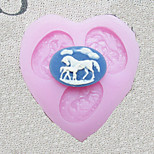 Three Holes Horse Silicone Mold Fondant Molds Sugar Craft Tools Resin flowers Mould Molds For Cakes