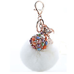 Key Chain Sphere Key Chain White Metal / Plush