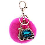 Key Chain Sphere Peach Metal Plush