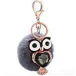 Key Chain Sphere / Bird Key Chain Gray Metal / Plush