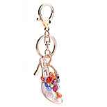 Key Chain Cylindrical Dark Red Gold