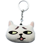 Key Chain Cat Key Chain White Cotton