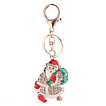 Key Chain Key Chain Red Green Silver Metal