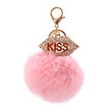 Key Chain Sphere Key Chain Pink Metal / Plush