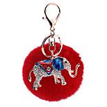 Key Chain Sphere / Elephant Key Chain Red Metal / Plush