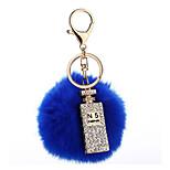 Key Chain Sphere Navy Blue Metal Plush