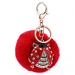 Key Chain Sphere Red Metal Plush