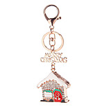 Key Chain House Key Chain / Diamond Red / Silver Metal