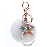 Key Chain Sphere Key Chain Rainbow / White Metal / Plush