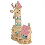 Jigsaw Puzzles Wooden Puzzles Building Blocks DIY Toys Childishness Hut 1 Wood Ivory Model & Building Toy