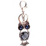 Key Chain Bird Key Chain / Diamond / Gleam Bronzed Metal